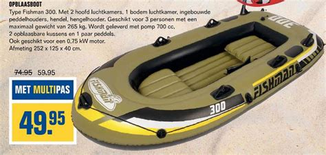 rubberboot kruidvat opblaasboot folder aanbieding bij multimate details