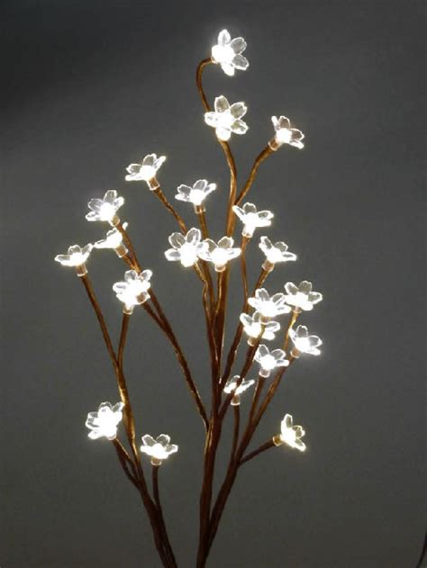blooming crystal led lighted branch warm white
