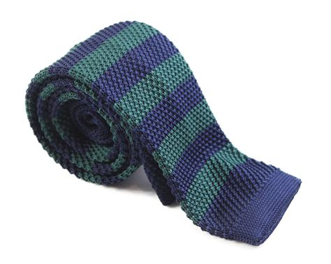 Knit Tie bottle green and navy knit tie shop mens ties