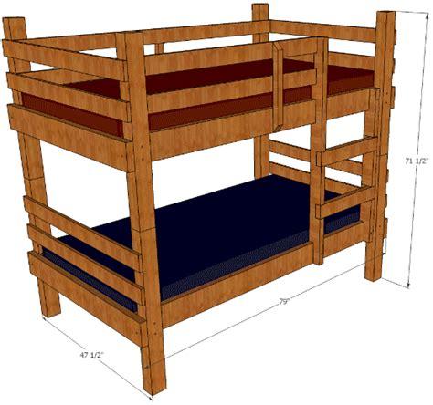 rustic bunk bed plans   build  bunks