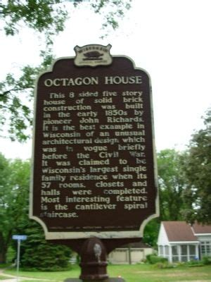 wisconsin historical markers marker 59 octagon house octagon house historical marker