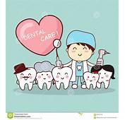 Familia Feliz Del Diente Con El Dentista Ilustraci&243n