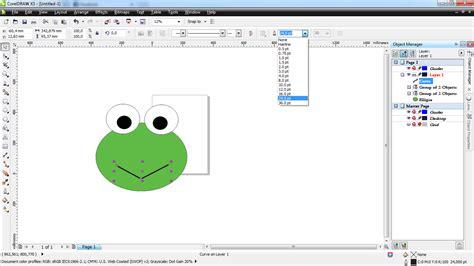 tutorial gambar kartun corel draw my life tutorial wajah animasi keropi dengan corel draw