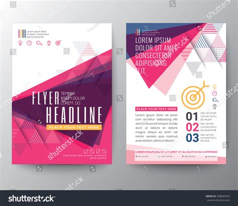 design poster size abstract triangle shape poster brochure flyer stock vector