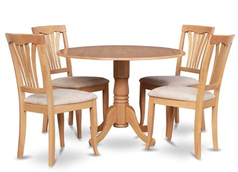 5pc 42 quot dinette kitchen dining table w 4 microfiber