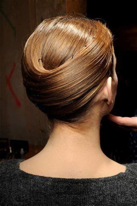 armani haircut sleek chignon hair styles and beauty pinterest
