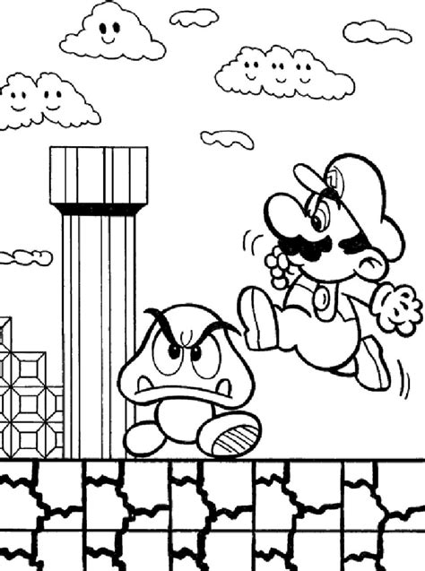 coloring pages for games print download mario coloring pages themes