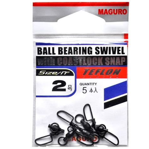 maguro 174 bearing swivel with coastlock snap teflon
