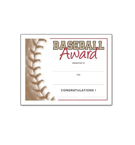 Free Certificate Templates For Youth Athletic Awards Southworth Baseball Pinterest Free Southworth Templates
