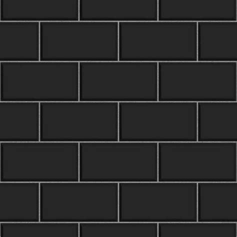 pattern feature tiles fine decor subway tile effect wallpaper black white