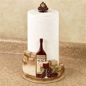 wine paper towel holder vino italiano wine and grapes paper towel holder