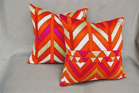 Customized Pillows India by Embroidered Vintage Phulkari Bagh Custom Pillow