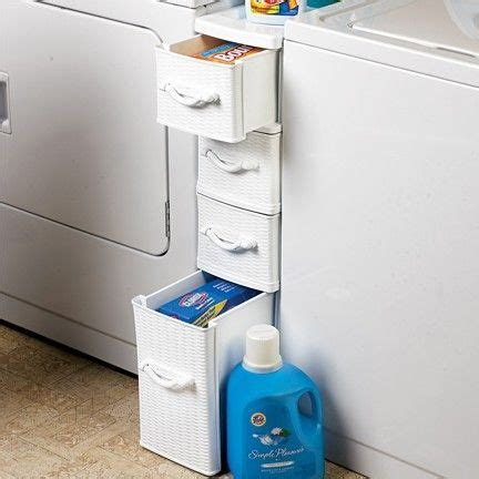 Laundry Room Storage Between Washer And Dryer Wicker Laundry Organizer Between Washer Dryer Drawers