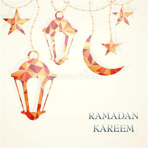 ramadan invitation card template ramadan greeting card template stock vector illustration