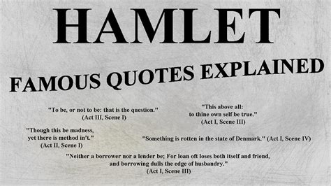 hamlet main themes and quotes hamlet most famous quotes explained ap lit english
