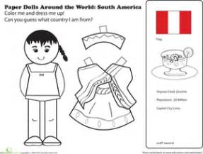 Inuit Crafts For Kids - paper dolls around the world latin america ii worksheet education com