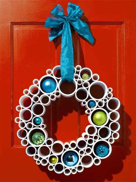 christmas wreath ideas easy crafts and homemade pvc pipe wreath deck your doors with easy diy wreaths