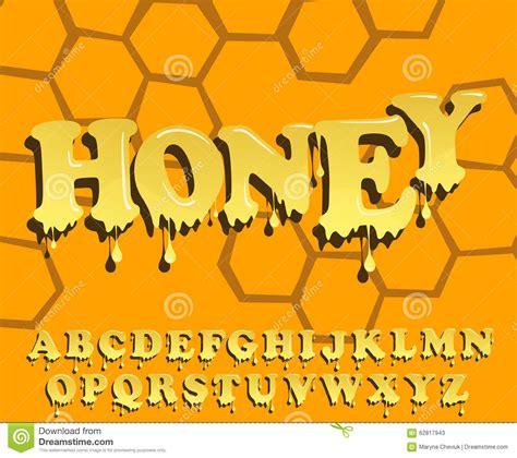printable melting font shiny glazed honey alphabet design melting font stock