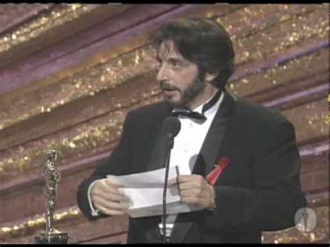 1993 best actor al pacino wins best actor 1993 oscars youtube