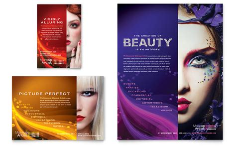 advertising layout artist makeup artist flyer ad template word publisher