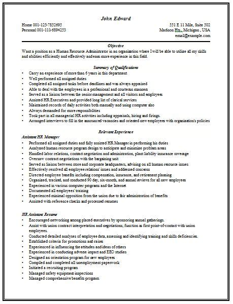 content rich resume sle for hr manager with work experience see more at www cv