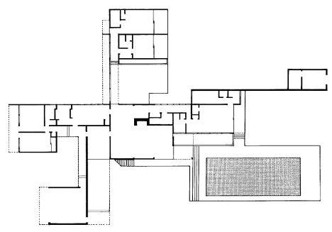 kaufmann house floor plan ad classics kaufmann house richard neutra archdaily