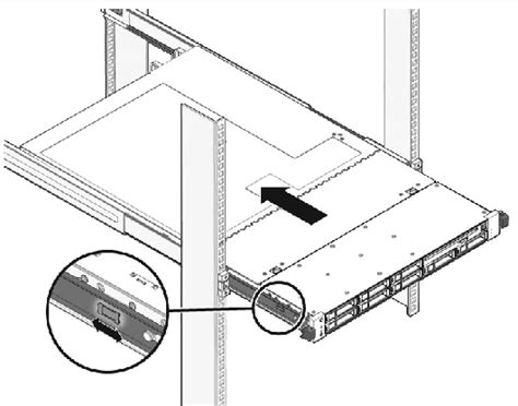how to install server rack rails installing the server into a rack with slide rails