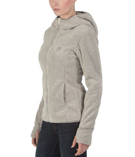 bench fleece hoodie bench arisoft zip thru fleece hoodie in gray cream lyst