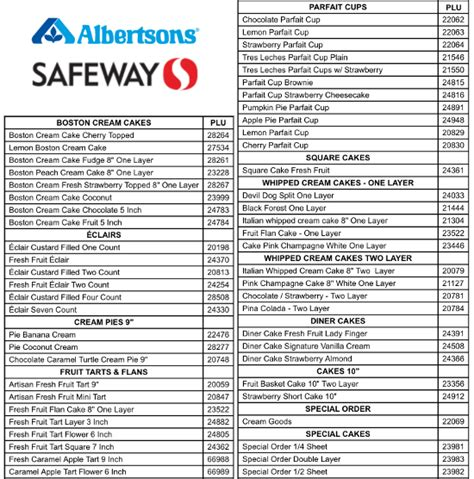 heb printable grocery list albertsons safeway recall bakery products over possible