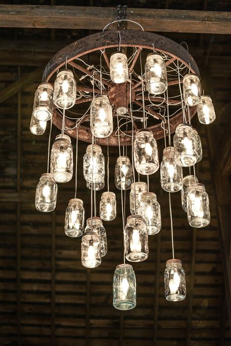 Crafting With Mason Jars Make Chandelier