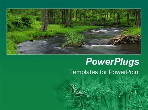 powerpoint themes river powerpoint template river flowing in middle of green