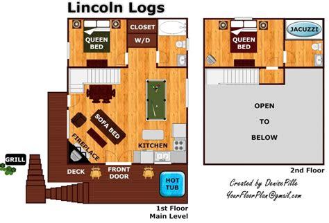 lincoln log homes floor plans lincoln logs a gatlinburg cabin rental