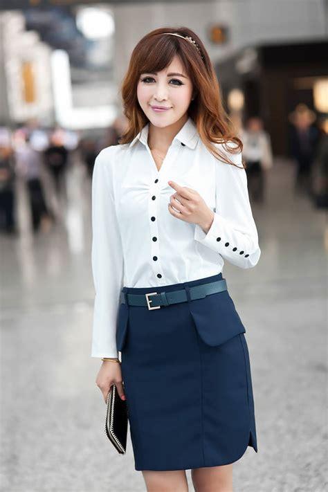 Baju Kerja Kemeja Blouse Wanita Korea Import Putih Biru White Pink kemeja kerja kantor wanita import putih model terbaru jual murah import kerja