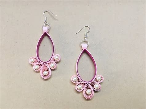 quilling paper jewellery making tutorial how to make paper earrings paper jewellery making paper