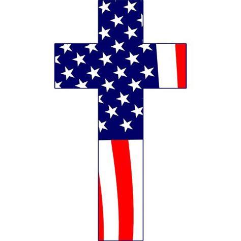 American Cross american flag cross 5 quot sticker usamm