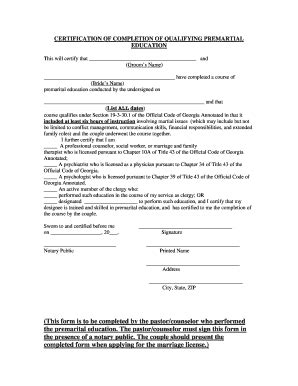 marriage counseling certificate of completion template certificate of marriage counseling completion fill