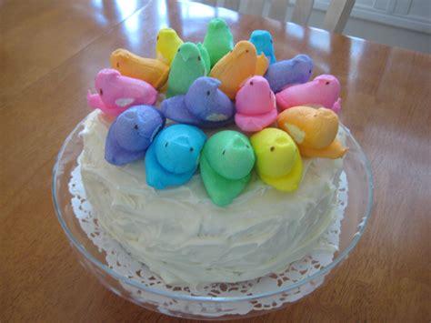 creative party ideas by cheryl peeps easter cake idea