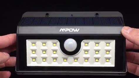 Mpow Helios Solar Motion Sensor Light 4k