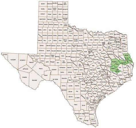 map of texas showing counties texas county select