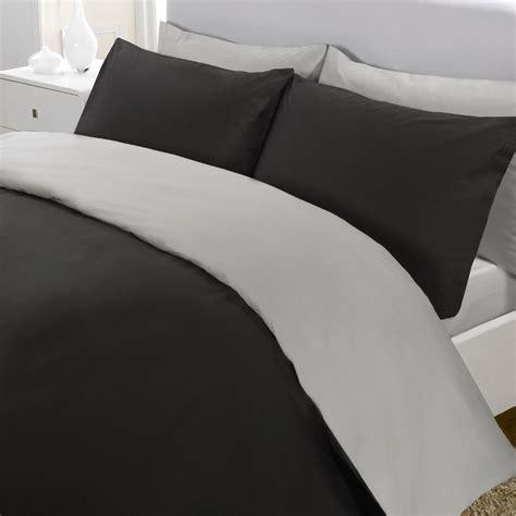 black and grey duvet reversible luxury percale duvet cover black grey