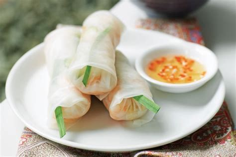 Rolls With Rice Paper - goi cuon prawn rice paper rolls