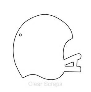 Football Cutout Template by Clear Scraps Clear Album Mini Football Helmet