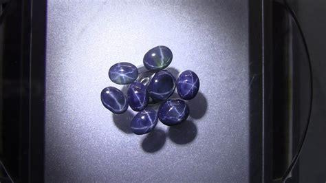 Blue Sapphire 6 Rays 6 25 Ct sapphire blue 6 rays 17 30 ct 8 pcs cabochon
