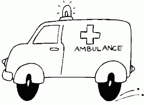 coloring page of an ambulance ambulance coloring pages coloringpagesabc com