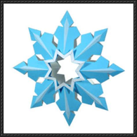 Papercraft Decorations - canon papercraft snowflake tree decoration v2