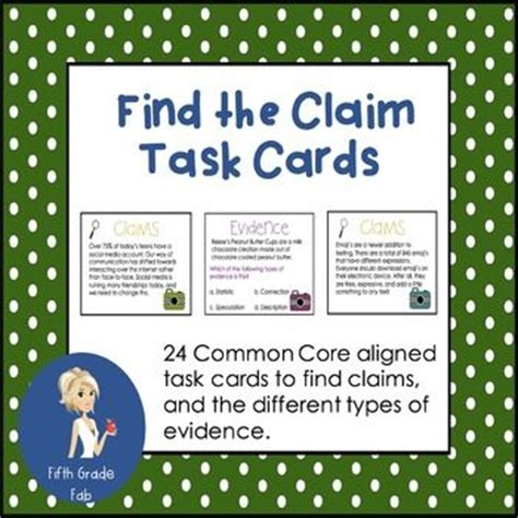 debate evidence card template claims and evidence task cards task cards types of and