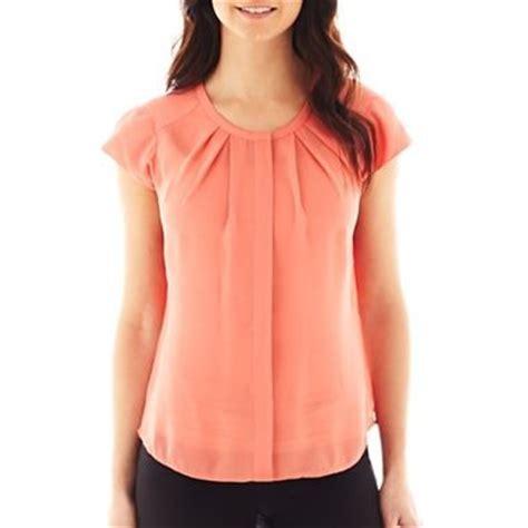 imagenes de blusas rojas blusa coral fosforescente de manga corta moda