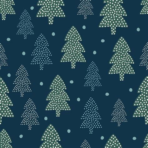 christmas tree new year pattern christmas pattern xmas trees and snow happy new year