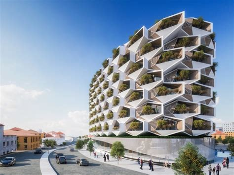 sustainable apartment design trees will grow on the balconies of istanbul s honeycomb