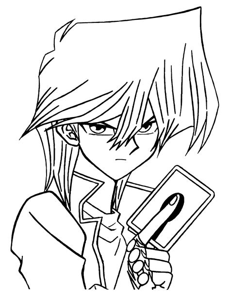 Coloring Page Yu Gi Oh by Yu Gi Oh Coloring Pages